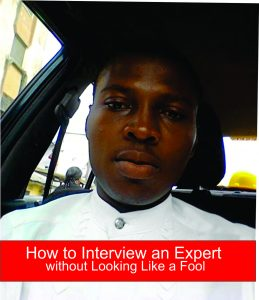 Interview an expert without looking like a fool