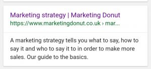 Definition of marketing strategy