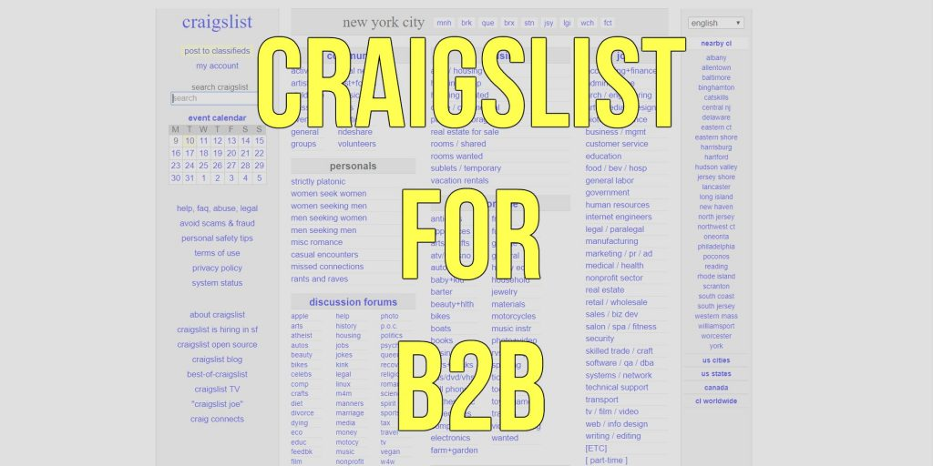 How expert salespeople are using Craigslist in their B2B marketing