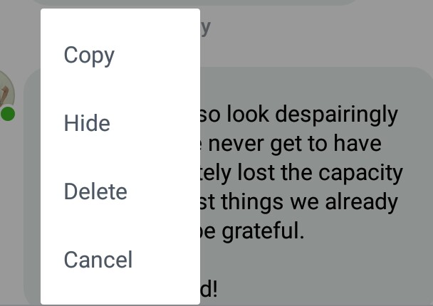 Hide comments by social media bashers and trolls