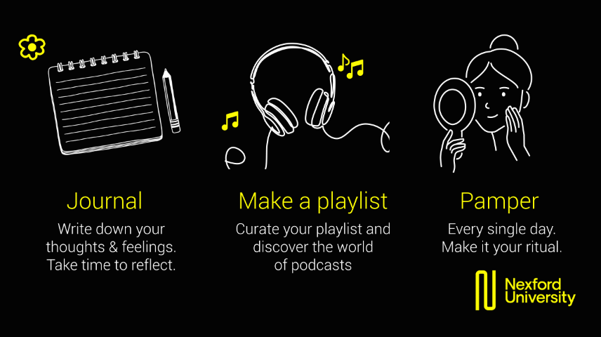 Create a journal for yourself and podcast playlist as you stay indoors this COVID-19 season