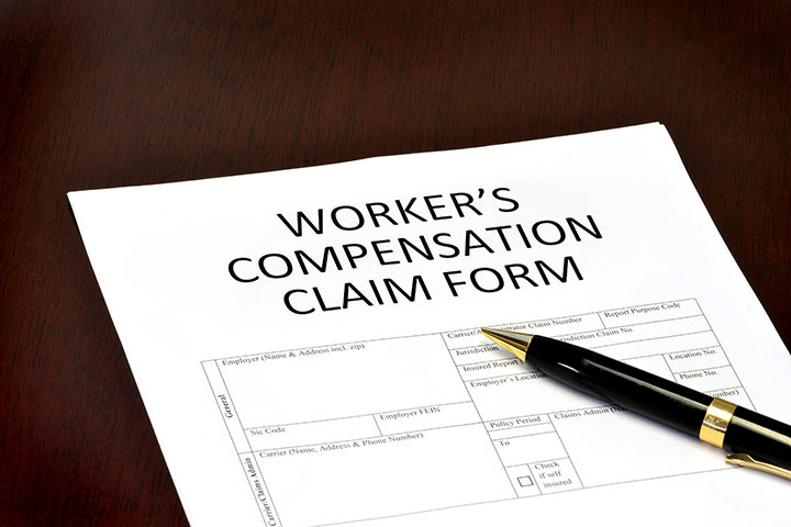 Details of workers' compensation insurance claim form
