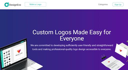 DesignEvo is a free logo maker for creating custom business logos
