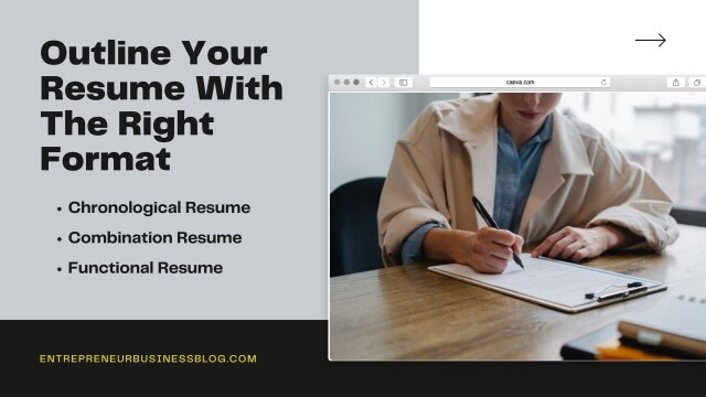 Outline your resume with the right format